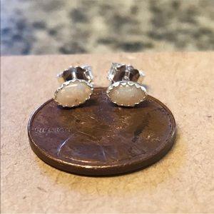 Jewelry - Opal sterling and fine silver earrings